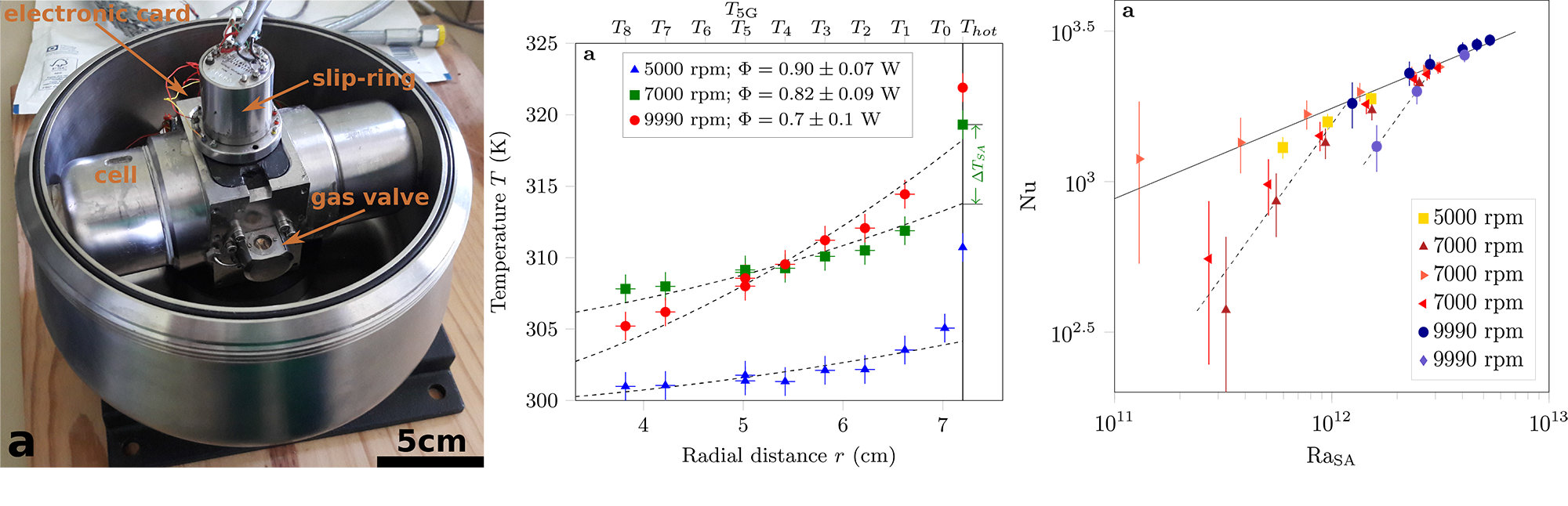 Convection in a centrifuge